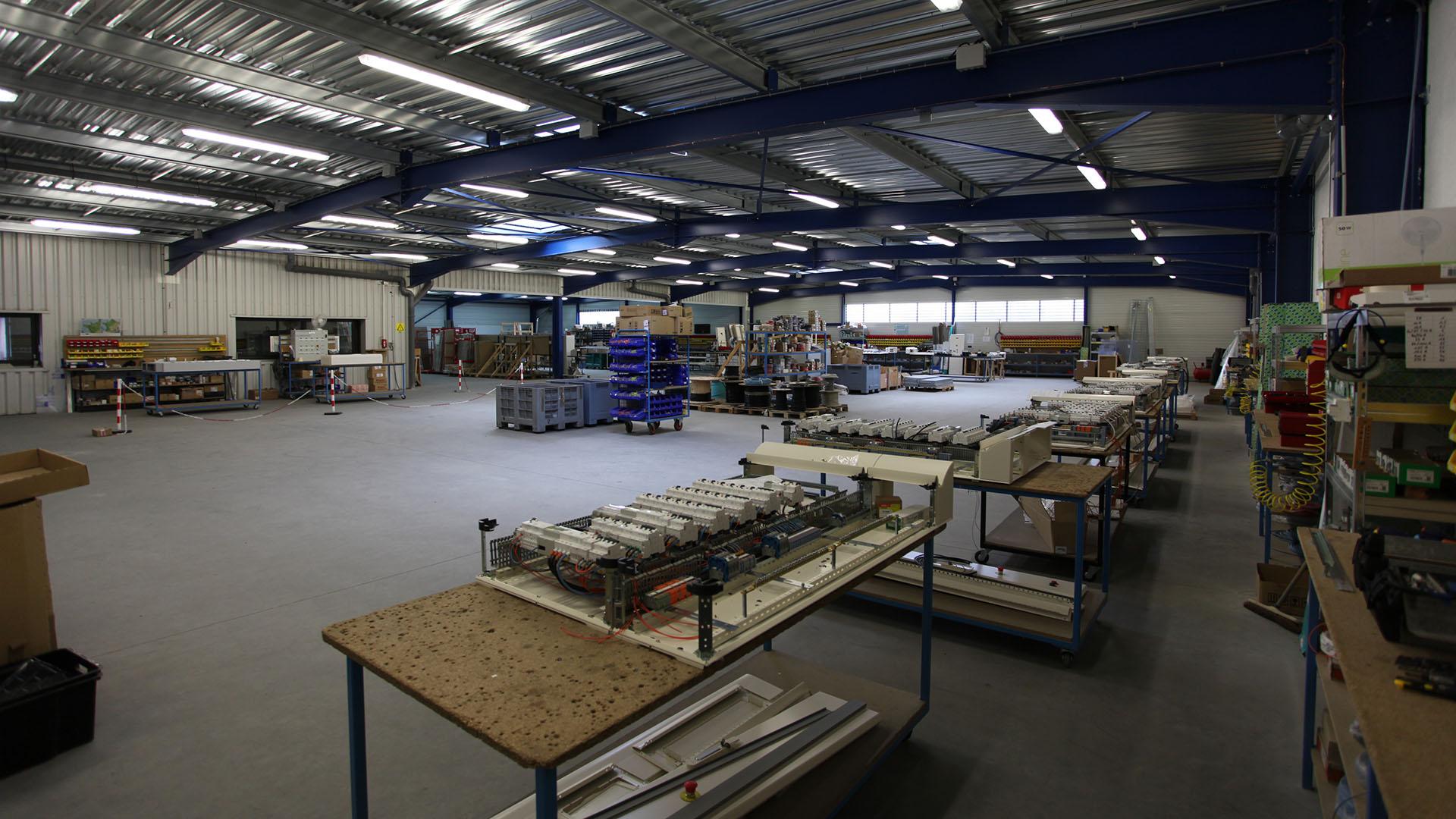 Batiment intérieur atelier